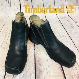 Timberland Pull On Bootie With Contrast Stitching